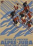 Vintage Travel Schweiz für Alpen und Jura und Winter Sport