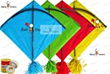 Kites Rocket Indian Kites Set of 20 Kites Size 45.5 * 58.5 Centimeters + Free and Fast Shipping