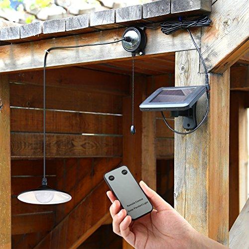 Pannello Solare Per Garage : Mvpower luce solare led lampada a sospensione bianco