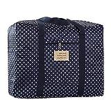 Große Oxford Aufbewahrungstasche handliche Trage-Tasche Reisegepäck Einkaufstaschen für Bettdecken und Kissen Kleidung Gepäcktaschen Auflagentasche Betttaschen Waschesack Decken(60*50*30CM)