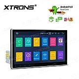 XTRONS Android 9.0 Autoradio 25,4 cm (10 Zoll) Touchscreen, GPS-Navigation, Single DIN-Kopfeinheit unterstützt vollen RCA-Ausgang, Bluetooth5.0 WiFi DVR OBD TPMS Auto Play