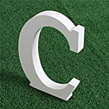 Wooden Wood White Letters Alphabet Word Free Standing Wedding Party Home Decor (C)