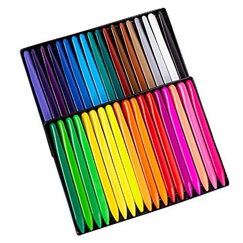 36 Farben Buntstifte Set ungiftig Körperfarbe Sticks, Körpertattoo Kreiden Kit für Kinder, Kinder, Kleinkinder, Studenten, Schule Malen, Zeichnen, Party Make-up 36pcs