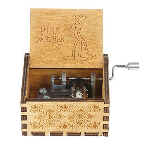 InnerSetting Holz-Spieluhr, Retro-Design, geschnitztes Holz, Handkurbel, Antik-Musikkoffer, Geschenke, Tischdekoration, Music Box-f