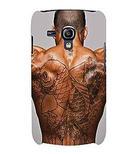 PrintVisa Man Body Art 3D Hard Polycarbonate Designer Back Case Cover for Samsung Galaxy S3 mini I8190 :: Samsung I8190 Galaxy S III mini :: Samsung I8190N Galaxy S III mini