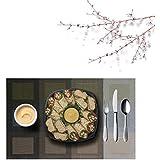 PVC Table Mats/Place Mats/Drawer Mats/Fridge Mats/Multipurpose Mats/Refrigerator Mats/Dinner Mats/Dinning Mats/Kitchen Place Mats, 30x45cm, 6 Piece Set-(T4X165165-Green Blue Ivory)