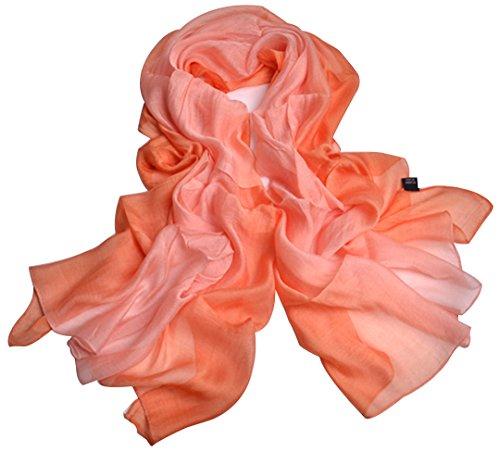 Mode New Ombre Steigung Ramp Süßigkeiten Farbe Hanf Baumwolle Maulbeere Seide Schals Schal Cappa Schal für Frauen Damen Mädchen (10) (Schal Silk Skinny)