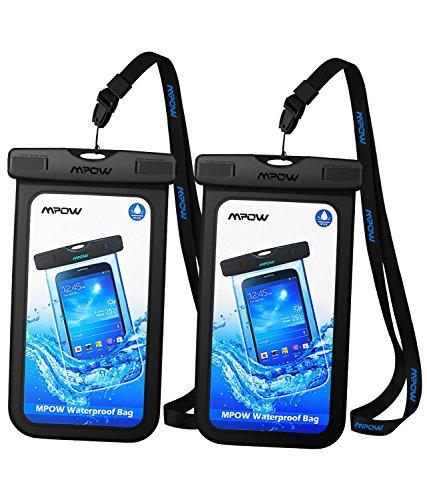 IPX8 Wasserdichte Hülle, Mpow 2 Stück IPX8 Zertifizierte Wasserdichte Beutel Trockenes Beutel, Kompatibel mit iPhone 7/7 Plus HOME-Taste für iPhone, Google Pixel, HTC, LG, Huawei, Sony, Nokia