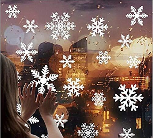 CHSYOO 85 stücke Schöne Schneeflocke Wandaufkleber Winter Spaziergang Fenster Aufkleber Dekor Schaufenster Kunst Aufkleber für Weihnachten Weihnachtsschmuck