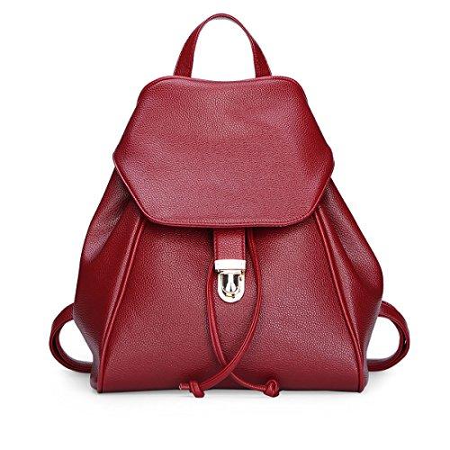 Dissa® S789 Ladies 2018 Fashion Pu Zaino Borse, 26,5x30x15,5 (lxaxp) Rosso
