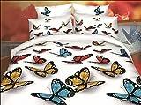 BELOMODA 5D Butterfly Print Single Bed S...