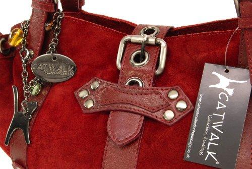 Sac à main en cuir suède Caprice signé Catwalk Collection X-Rouge