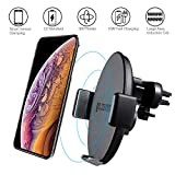 Caricatore Wireless Auto,Gocomma Caricabatterie Wireless per iPhone XS/XS Max/XR/X/ 8/8 Plus, Samsung S9/ S9 +/ S8/ S8 +/ Nota 8/ Note 9 e Tutti i Dispositivi Qi-Enabled Automatico Induzione
