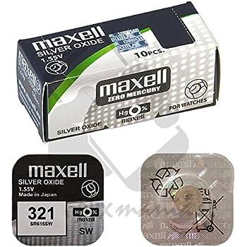 Maxell 321 SR616SW Pila botón , 1,55V: Amazon.es: Electrónica