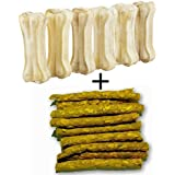 Pet Dog Bone, 6 Pieces (3-inch) with Chicken Stick, 120 g