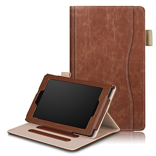 All-New Amazon Fire 7 Tablet (5th Generation 2015 & 7th Generation 2017) Case,All-New Amazon Fire 7 Tablet (5th Generation 2015 & 7th Generation 2017) Case,Cover for Premium PU Leather Wallet Snap Case Cover for Cover for Flip Cover for All-New Amazon Fire 7 Tablet (5th Generation 2015 & 7th Generation 2017) Brown