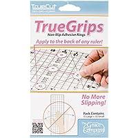 TrueCut Non Slip Ruler Grips-Transparent (Patchwork Tulip)