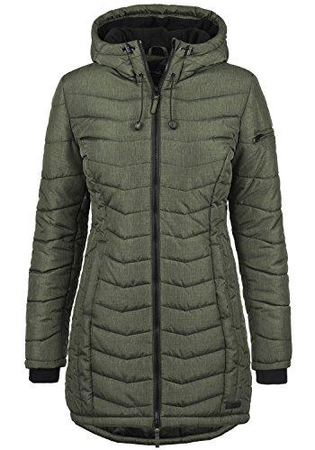 Blend She Nelly Damen Steppmantel Wintermantel Winterjacke mit Gefütterter Kapuze, Größe:XL, Farbe:Peat Green (77200)