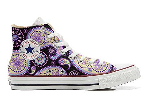 Converse All Star personalisierte Schuhe (Handwerk Produkt) Flowery Paisley Size 38 EU