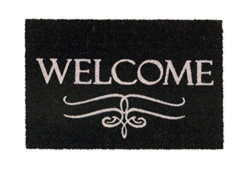 Coco Style Kokos-Fußmatte, Türmatte, Eingangsmatte, Vorleger Des. 9126-12 Welcome ca. 40 x 60 cm, rutschfest, 100% Kokos bedruckt