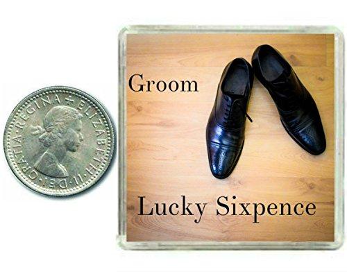 Oaktree regalos de la suerte boda seis peniques moneda para el novio y la idea tradicional para el novio zapato divertido marido para ser el día buena suerte recuerdo regalo para Fianza, Son, Brother, Amigo