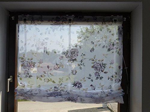 Home Salón Ideas raffrol los Lila–Rosas B/100x h/130cm Stores Cortina Impresión Digital