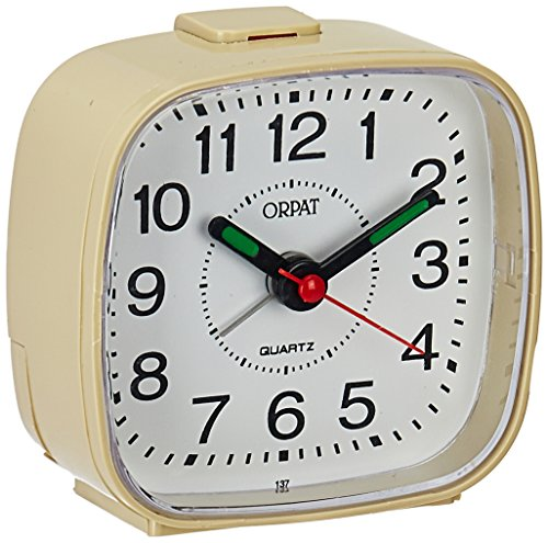 Orpat Beep Alarm Clock (Apricot,Small, 7.18 cm x 3.3 cm x 6.8 cm, TBB-137)
