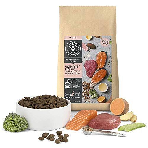 Hundefutter trocken 2 kg | Premium-Qualität | Thunfisch und Lachs mit Süßkartoffel und Brokkoli | Trockenfutter für Hunde mit 50% Fischanteil, getreidefrei und ohne unnötige Zusätze