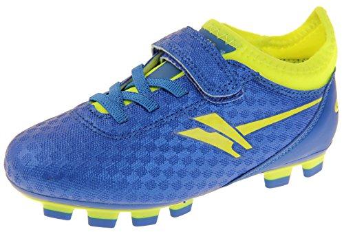 Gola Jungen Activo5 Blades Astroturf Fußballschuhe Sports Turnschuhe Blau und Volt (Gelb) EU 24 (Trainer-rasen-schuhe)