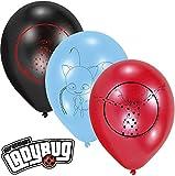 6 Latex-Ballons * MIRACULOUS * als Deko für eine Mottoparty oder Kindergeburtstag // von Amscan // Ladybug Marienkäfer Superheld Party Geburtstag Luftballons