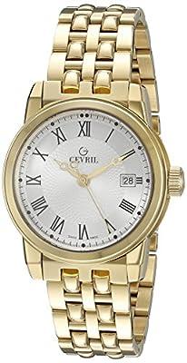 Gevril Men's 2522 Park Analog Display Swiss Quartz Gold Watch
