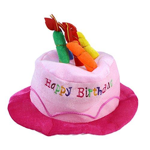 NUOBESTY Geburtstag Kuchen Hut Party Hüte Erwachsene Geburtstag Kostüm Zubehör für Erwachsene Geburtstag Party (Pink)