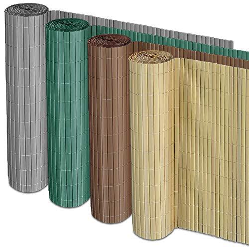 casa pura Sichtschutz Zaun für Außenbereich | grau | für Balkon, Terrasse und Garten | Größe wählbar (150x500cm)