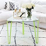 Innovareds Ende Tisch Glas Tischplatte Metall Tube Beine Modern Home Couchtisch Grün