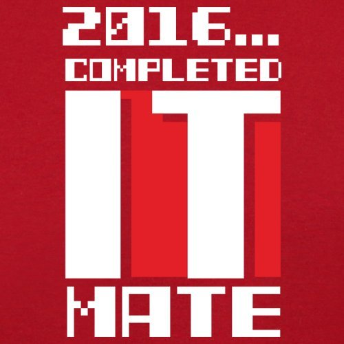2016 Completed it Mate - Herren T-Shirt - 13 Farben Rot