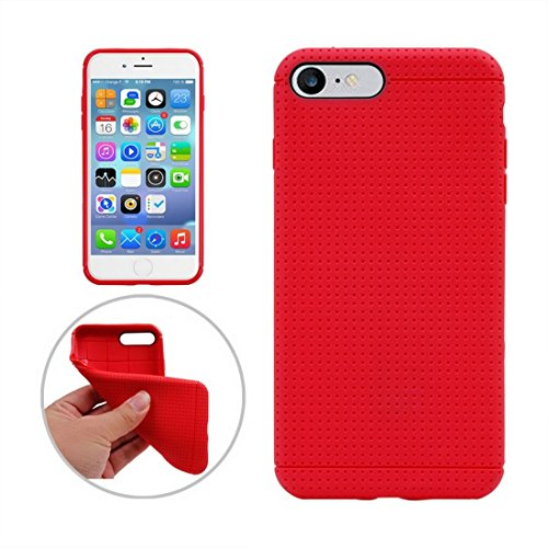 Hülle für iPhone 7 plus , Schutzhülle Für iPhone 7 Plus Honeycomb Texture Soft TPU Schutzhülle ,hülle für iPhone 7 plus , case for iphone 7 plus ( Color : Gold ) Red