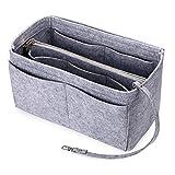 IGNPION Felt Handbag Organiser 15 Pockets Tote Purse Insert Bag Pouch Inner Bag