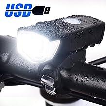 Eximtrade USB Ricaricabile Bici Bicicletta Torcia Elettrica Luce Anteriore 3