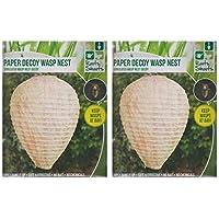 2x para colgar de papel grande jardín señuelo Wasp Nest mantiene avispas en bahía Wasp Disuasión