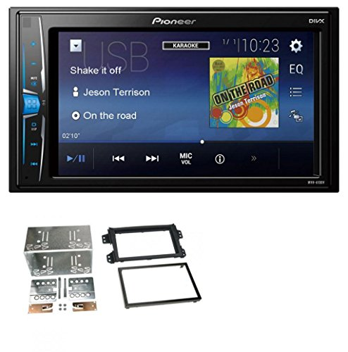 caraudio24 Pioneer MVH-A100V 2DIN MP3 USB Aux Autoradio für Opel Agila B Suzuki Splash 08-14 (Hinten Doppel-passe)