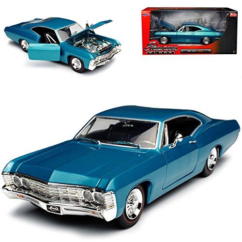 Jada Chevrolet Chevy Impala Coupe Blau Tuerkis 1967 1/24 Modell Auto