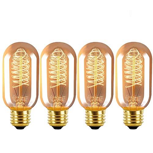 (TINS Edison Lampe, E27 40W Retro Glühlampe,Edison Vintage Glühbirne,Antike Glühlampe, Warmweiß 2200K Dimmable, Retro Lampe für den Haushalt dekorative Beleuchtung 220V-240V - 4er Pack)