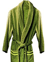 Atenas Home Textile Altea - Albornoz de rizo, talla L, 100% algodón, 320 g/m², color verde pistacho