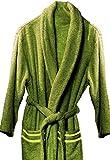 Atenas Home Textile Altea - Albornoz de rizo, talla XL, 100% algodón, 320 g/m², color verde pistacho