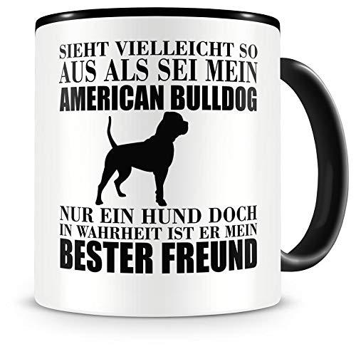 Samunshi® American Bulldog mein bester Freund Hunde Tasse Kaffeetasse Teetasse Kaffeepott Kaffeebecher Becher -