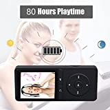 from FecPecu MP3 Player, FecPecu 80 Hours Playback 8GB Music Player Hi-Fi Sound, With FM Radio and Voice Recorder Function, Support Expandable up to 64GB (Black) Model PB20-A-mp3