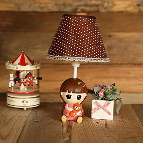 ZY Niedlichen Cartoon Mädchen Nacht Kleine Tischlampe Kreative Kinderzimmer Mini Schreibtischlampe Baby Zimmer Mädchen Zimmer Mini Schreibtisch Lichter (Kirsche Mädchen) -