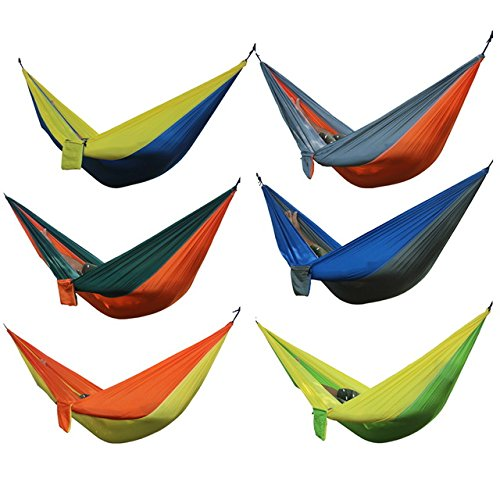 Generic 6 Colors Parachute Portable Hammock 275 cm x 140 cm Loading Stand 250 kg amping -Parent