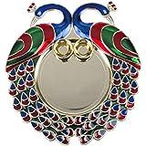 Designer Golden Pooja Thali / Rakhi Platter /Engagement Ring Platter / Tilak Thali