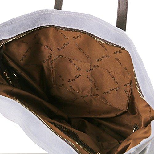 Tuscany Leather Annie Borsa shopping TL SMART in pelle effetto invecchiato Rosso Celeste